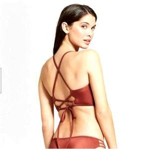 Shade & Shore Dream Copper Lined Bikini Top NEW
